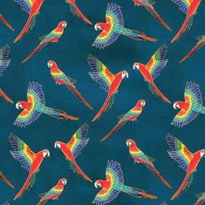 Red Macaws (Small Version - Coordinate Pattern)