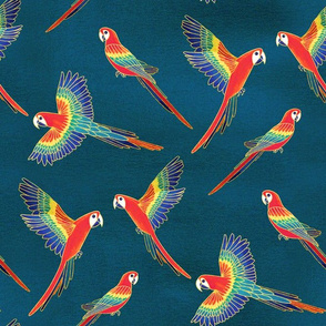 Red Macaws (Large Version - Coordinate Pattern)