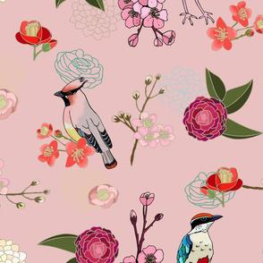 Eastern delight Japanese garden (pink)
