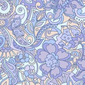 Zen garden blue purple
