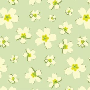 Portuguese Flowers - Green