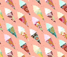 Mandala ice cream | misty rose