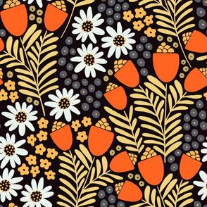Bright orange wildflowers