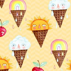 Ice Cream Smiles, Sunny Day