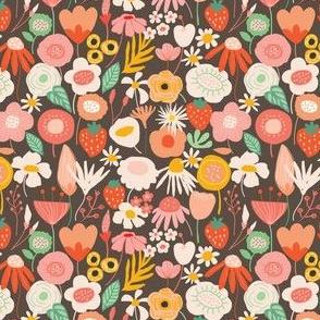 Midsummer brown floral
