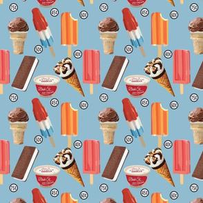 Vintage Ice Cream Blue