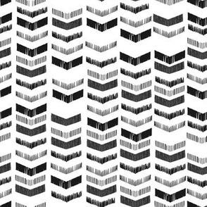 Chevron Stacks - white + Black
