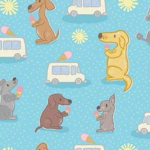 Dog Days of Summer - Dogs and Ice Cream - Large Scale