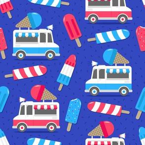 Patriotic Ice Cream Trucks