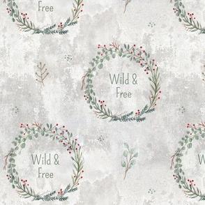 Wild & Free Wreath MED