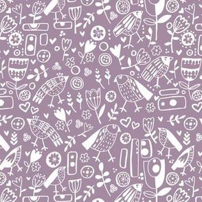 dusky lilac doodle days