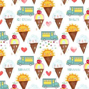 Ice Cream Truck,  Summer Smiles