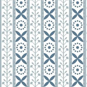 floral geometric blue