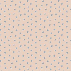 Little tiny brush spots raw ink paint dots irregular boho trend nursery soft sand beige blue