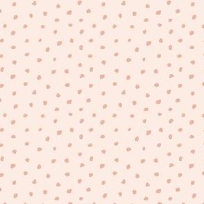 Little tiny brush spots raw ink paint dots irregular boho trend nursery navy blue caramel