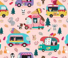 Ice Cream Trucks & Animals