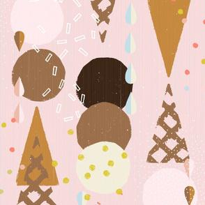 Ice Cream Cones Large by Friztin