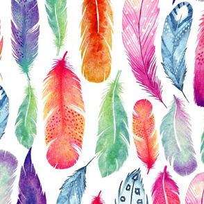 The Honest Company® Painted Feathers Print Wallpaper