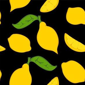 Meyer Lemons on Black