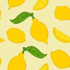 Meyer Lemons on Lightest Yellow