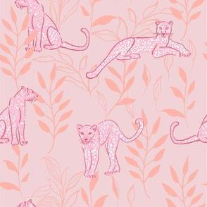 Leopards - peach