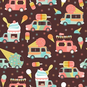 ice cream trucks on chocolate