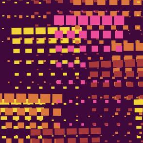 Bright Mine Craft Explosion // Geometric Square Pattern