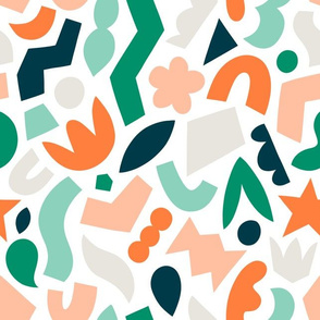 Cut and stick fun abstract shapes pattern