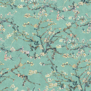 Vincent Van Gogh Almond Blossom Mint Sage Green Blush Pink