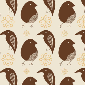Brown folk birds