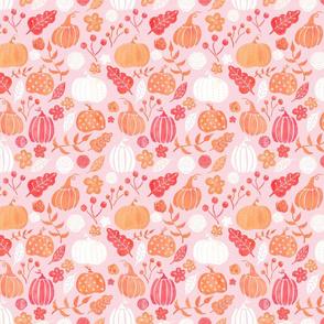 Pink and Peach Pumpkin Patch