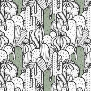 Cactus Garden White