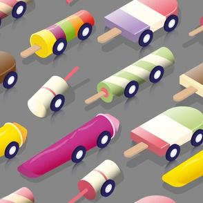 Isometric icecream Cars - Grey