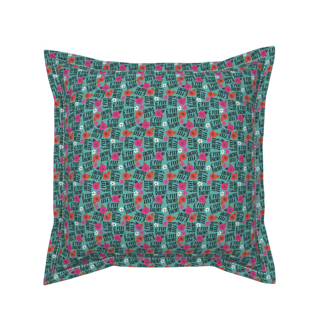Serama Throw Pillow featuring Teeny- 6 feet bitches by cynthiafrenette