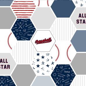 FQ Baseball Baby Blanket (Fat Quarter Panel)