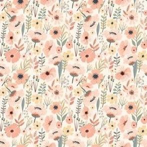 """3 """" Soft Pink Garden"""
