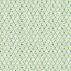 1830s Petite Blue on Sage Sprigs Dots