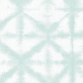Soft tie dye boho texture summer shibori traditional Japanese neutral cotton print mint green XL