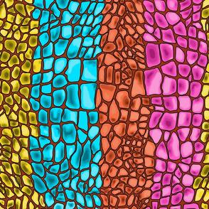 Bright reptile skin