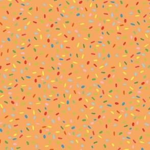 Nonpareil Sprinkles on orange