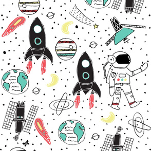 The Honest Company® Space Travel Print Wallpaper