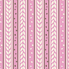 Chocolate Cream Pink Vanilla Stripes