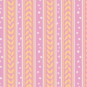 Chocolate Cream Pink Apricot Stripes