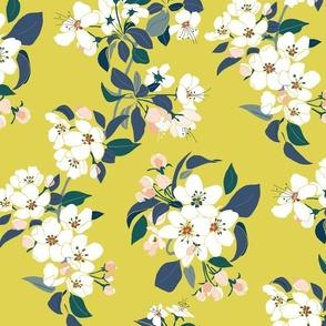 Serene Garden Apple Bloom Yellow