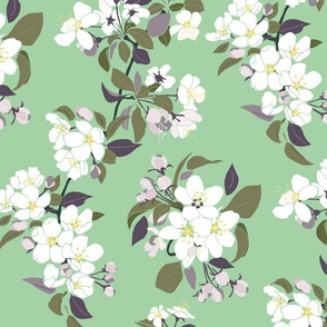 Serene Garden Apple Bloom Mint