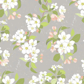 Serene Garden Apple Bloom
