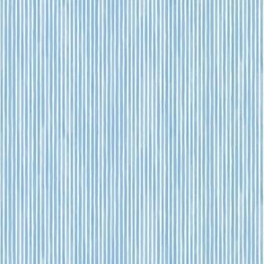 Vertical Watercolor Mini Stripes M+M Sky by Friztin