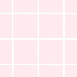 Large Watercolor Windowpane M+M  Sorbet by Friztin