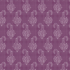WOVEN Painted Paisley Plum