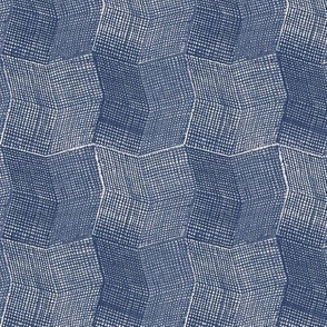 Manta Weave - indigo - half scale
